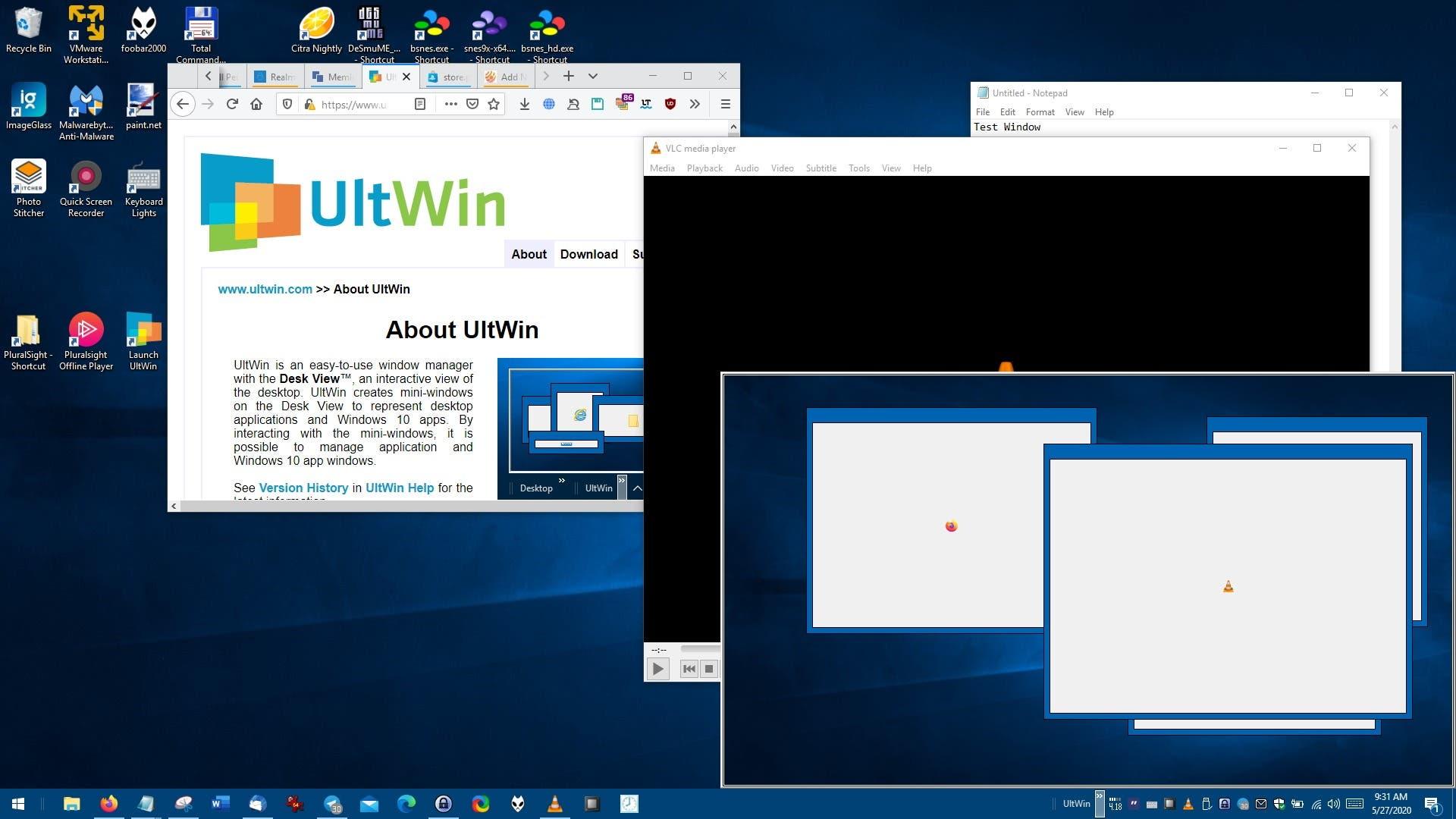 UltWin es un gestor de ventanas gratuito que puede ayudarte a organizar tu escritorio