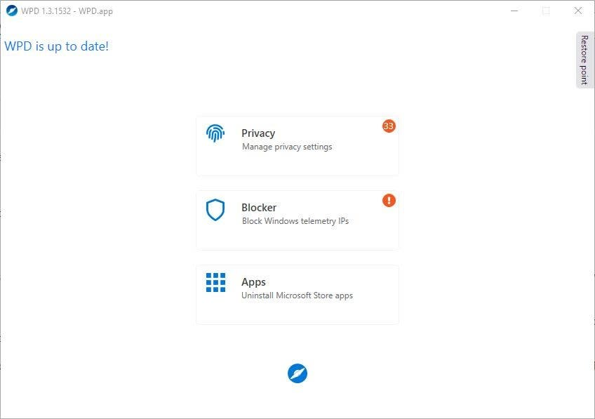 WPD 1.3.1532 adds support for Windows 10 May 2020 Update, new privacy settings, and some minor UI changes