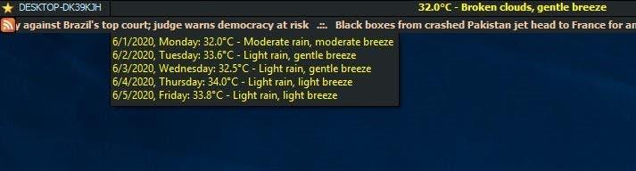 MiTec InfoBar Weather