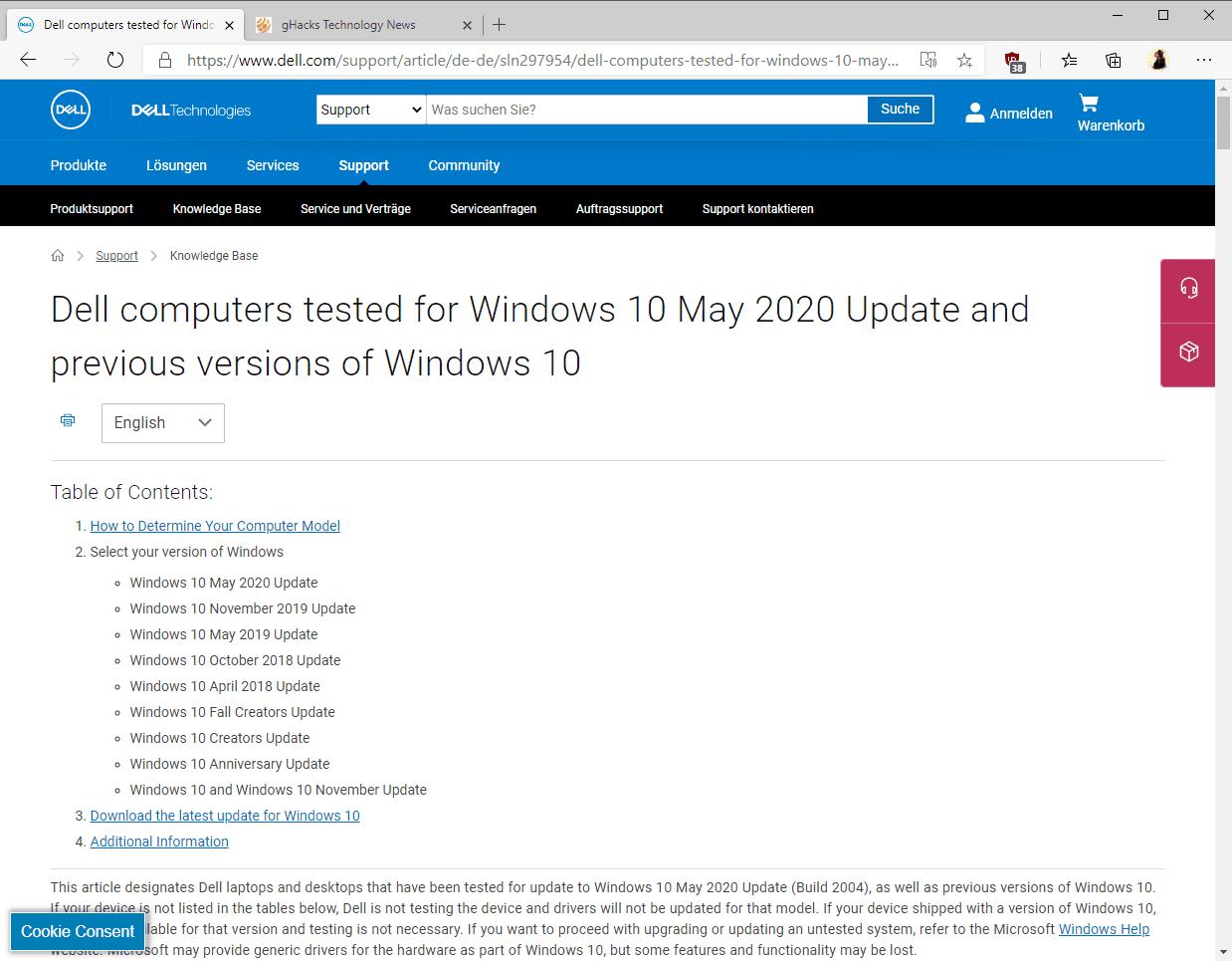 dell windows 10 2004