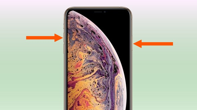 captura de pantalla en el iPhone XS Max