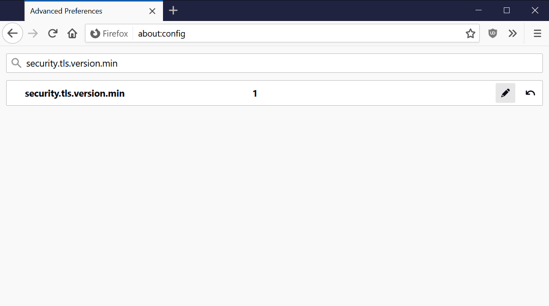 la versión de Firefox