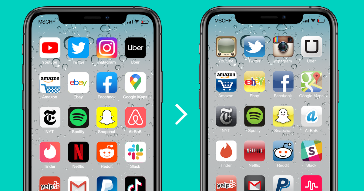 Ahora puedes añadir iconos de aplicaciones nostálgicas a tu iPhone