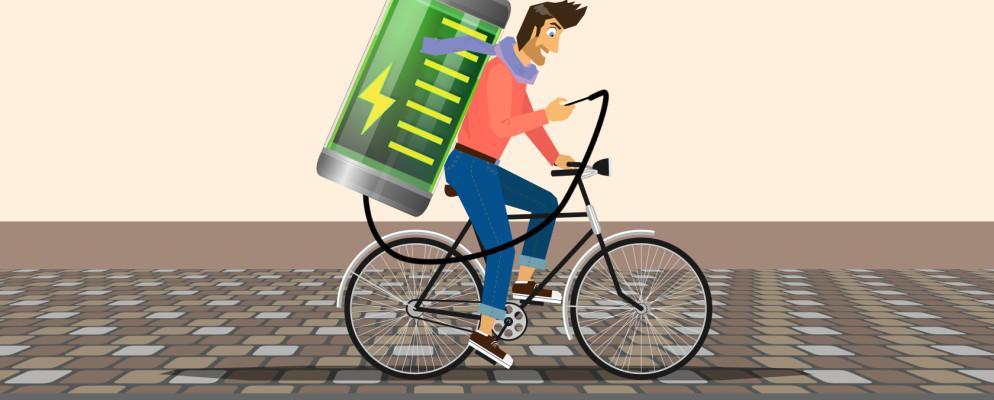 Cómo cargar el teléfono mientras vas en bicicleta