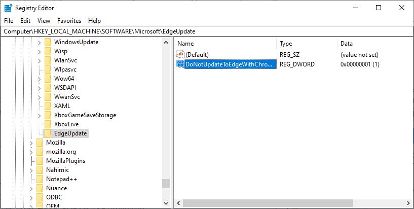 actualización del borde de Chrome del bloque