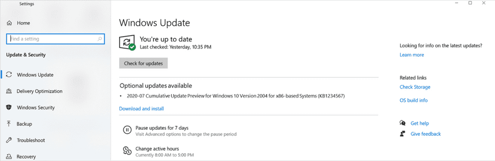 Delivery of optional non-security updates for Windows 10 and Server to resume in July