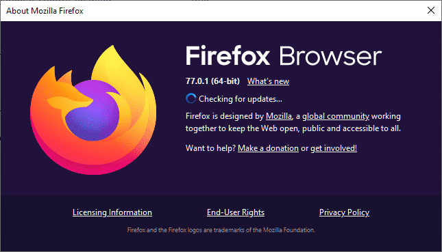 firefox 77.0.1