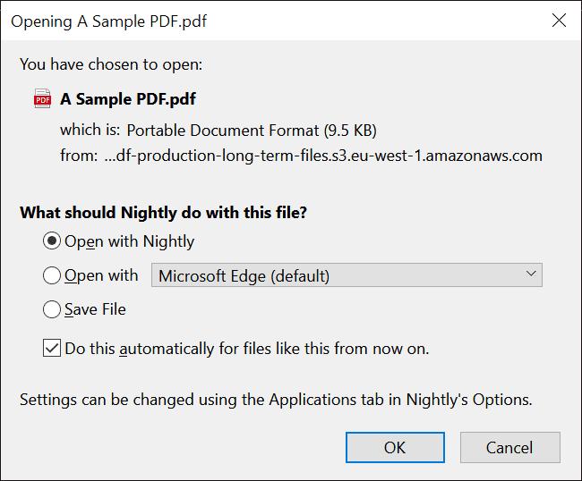 Firefox 78: Set Firefox as the default PDF viewer on Windows