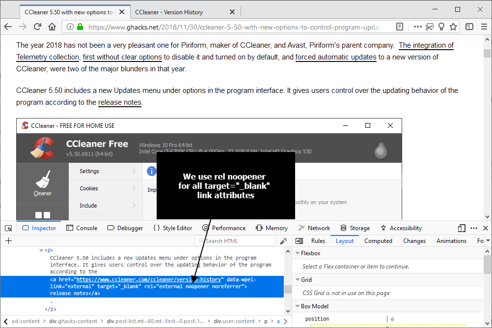 Firefox 79 makes some links more secure