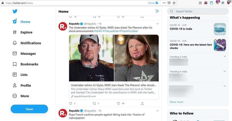La nueva interfaz de Twitter