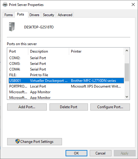 USB Printer is missing on Windows 10 version 1903 and later (with workaround)