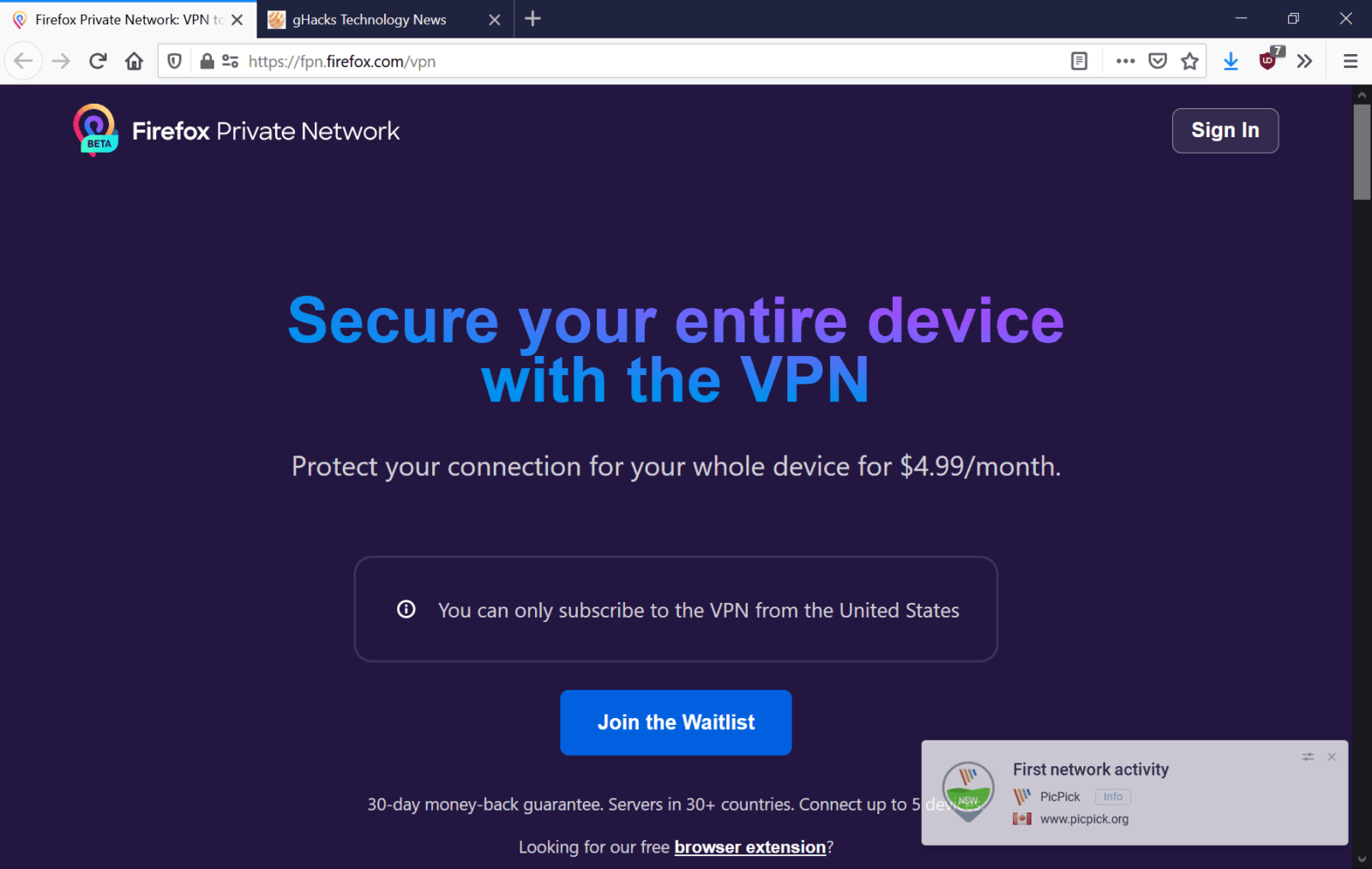Mozilla will launch Mozilla VPN in the coming weeks