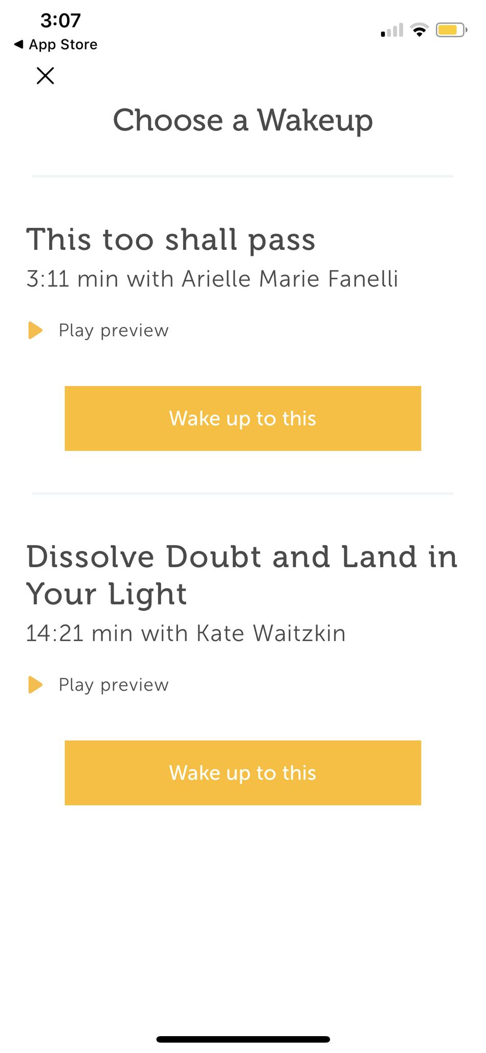 Entonces, puedes elegir a qué sesión quieres despertarte.