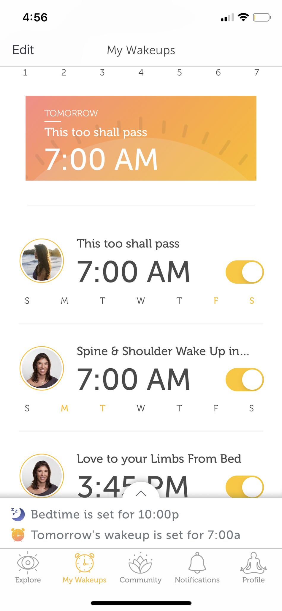 Puedes personalizar lo que quieras para despertar en qué día.