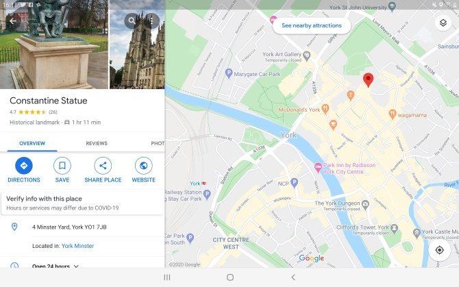 Usa una aplicación de mapas para probar tu pantalla táctil