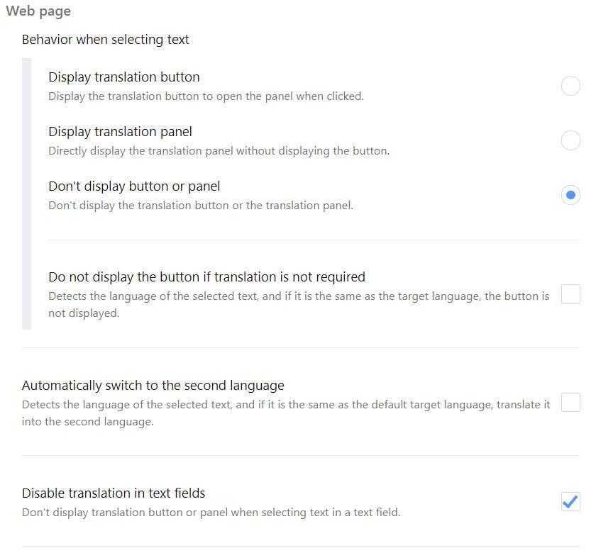 Simple Traducir ajustes 2