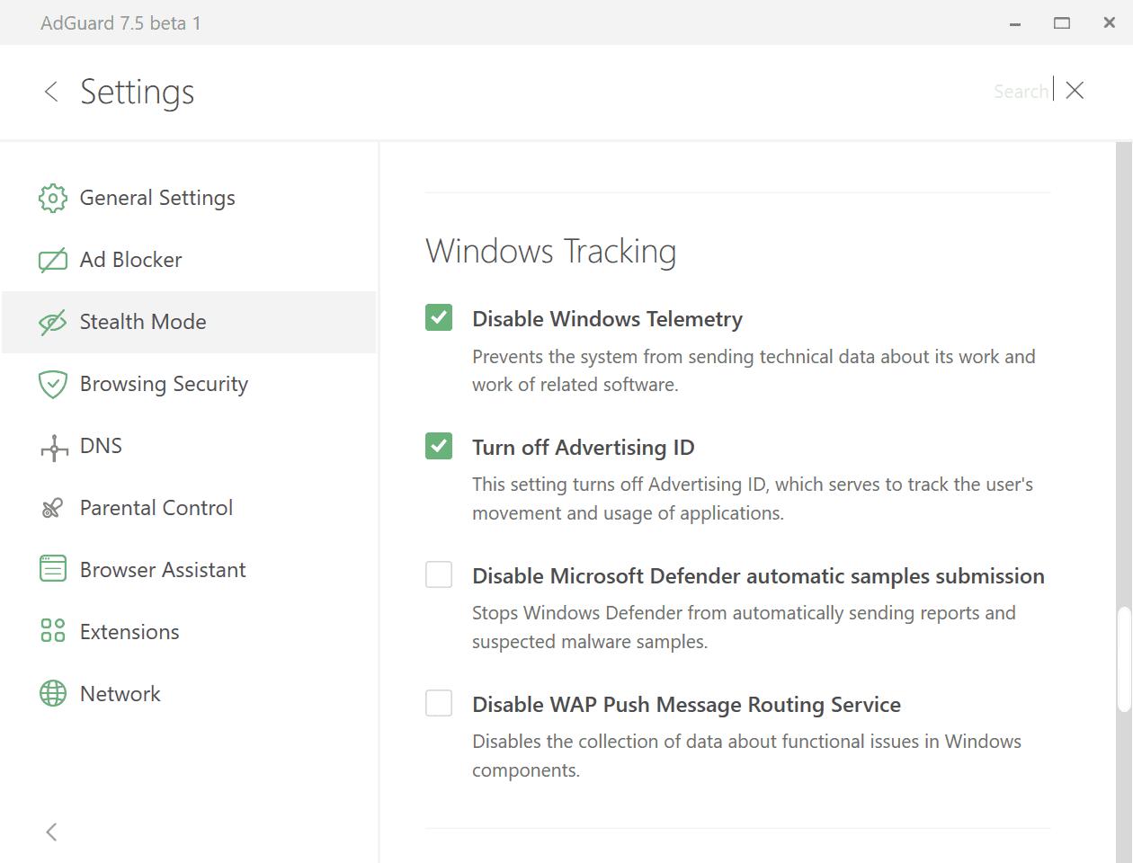 adguard 7.5 beta
