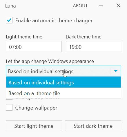 Luna cambiar tema personalizado 2