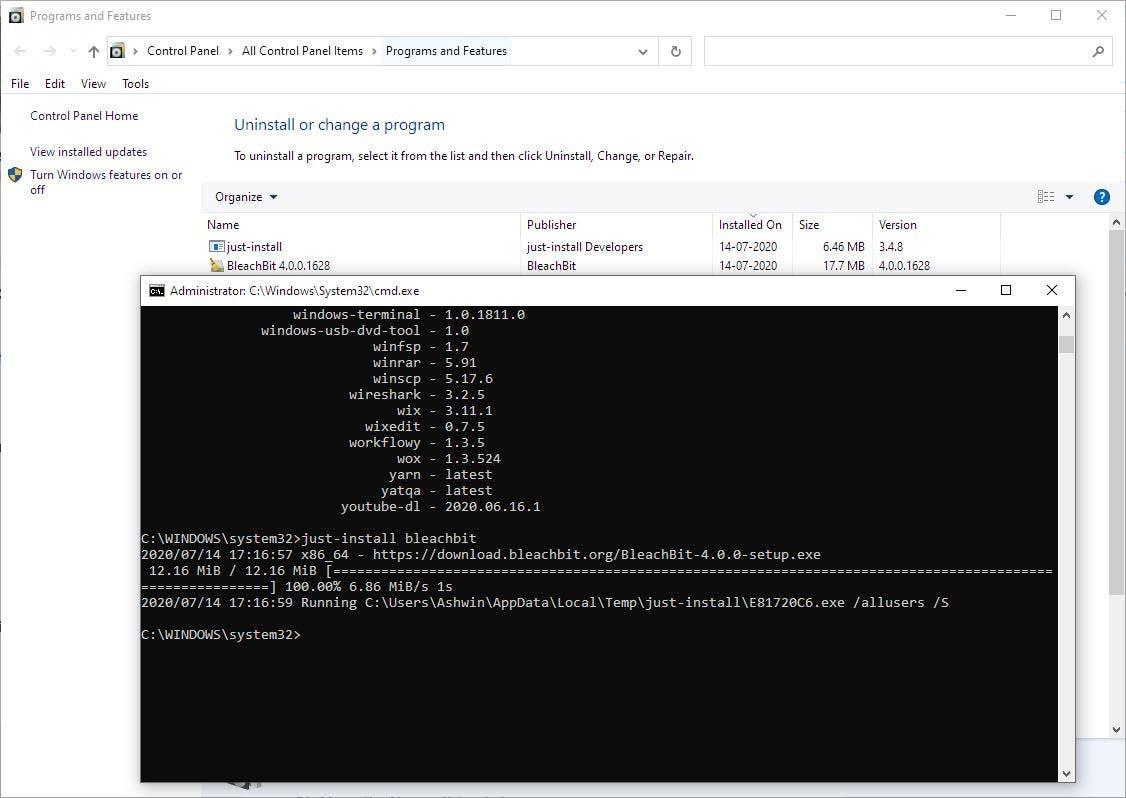 Descargar e instalar programas con un solo comando con sólo instalar