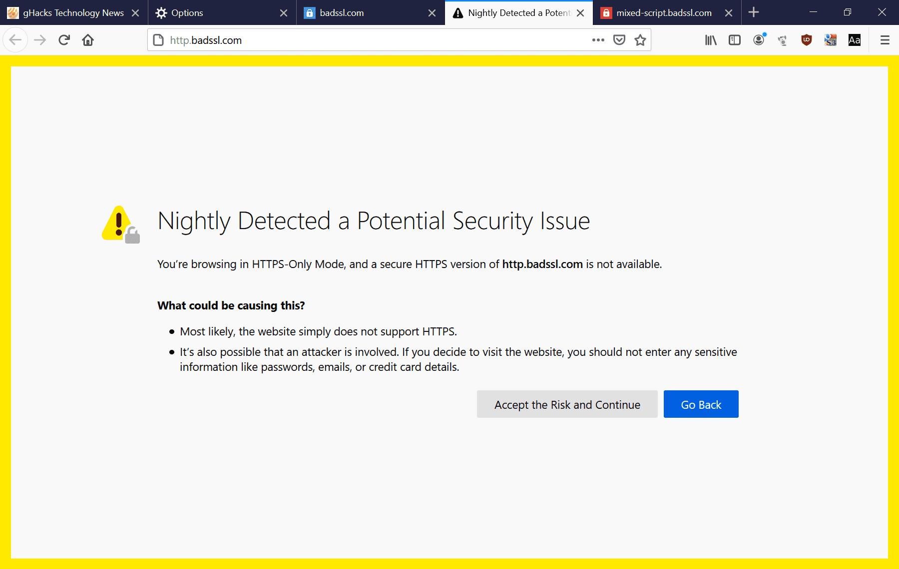 error de modo de sólo 80 https de firefox