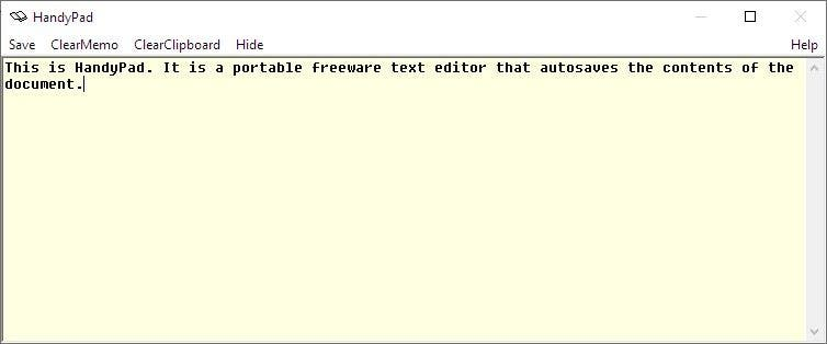 HandyPad is a freeware text editor that supports autosave