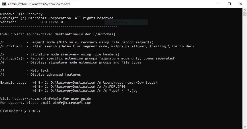 La aplicación de recuperación de archivos de Windows es una nueva aplicación de Microsoft que puede recuperar archivos eliminados