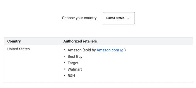 El precio de la tienda de Google coincide con el de EE.UU.