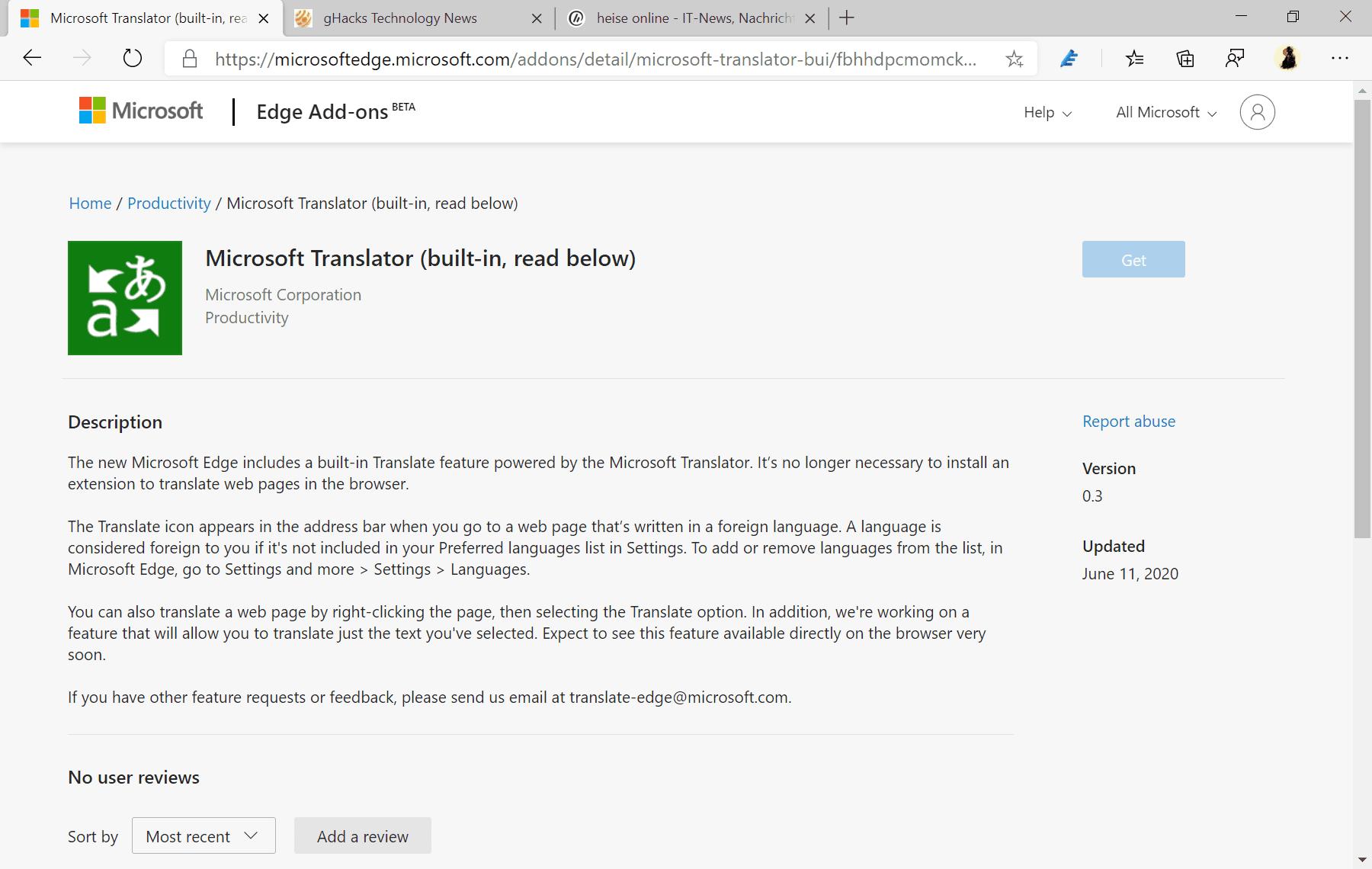 el traductor de Microsoft consigue