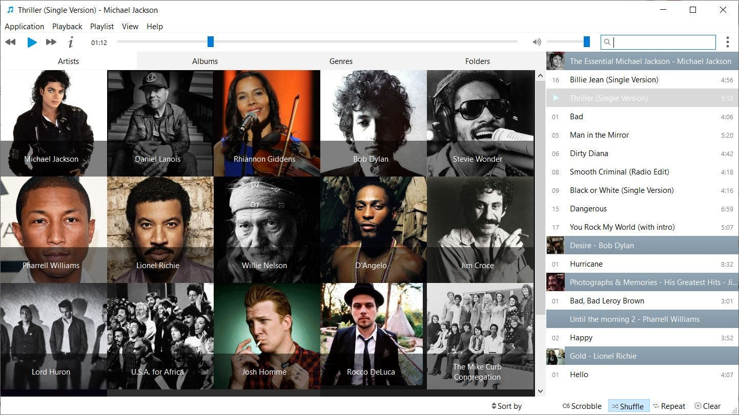 Musique is a simplistic and cross-platform music player