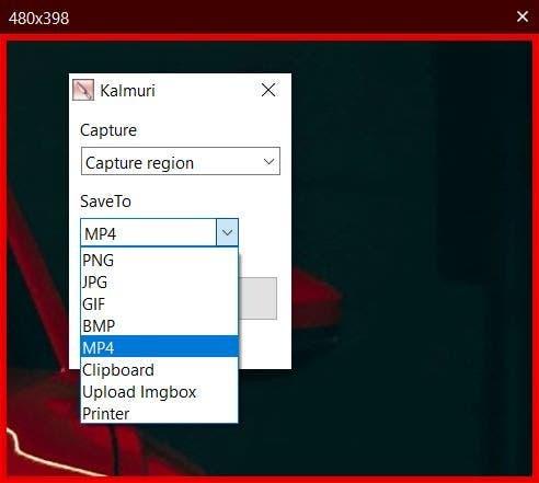 Los formatos de salida de Kalmuri