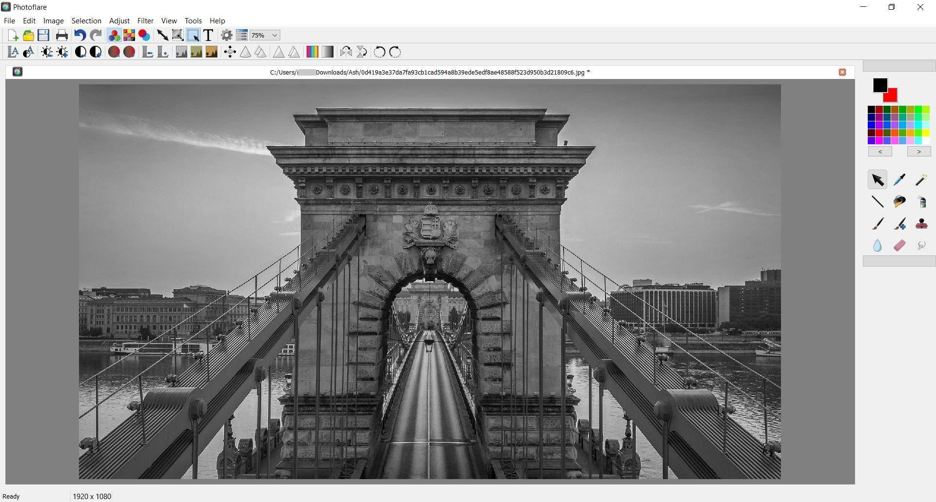 La escala de grises de la foto fija