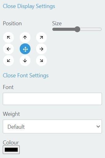 Configuración de la fuente y la pantalla del Tabliss