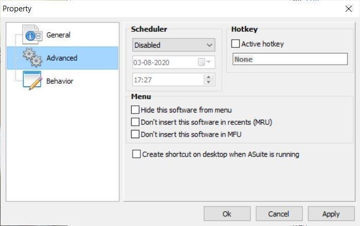 Programador de tareas en suite