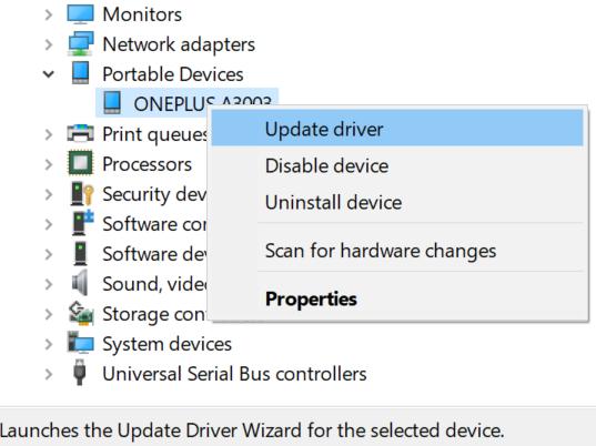 actualizar los controladores de android