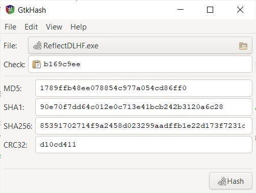 GtkHash calcula los valores de hash