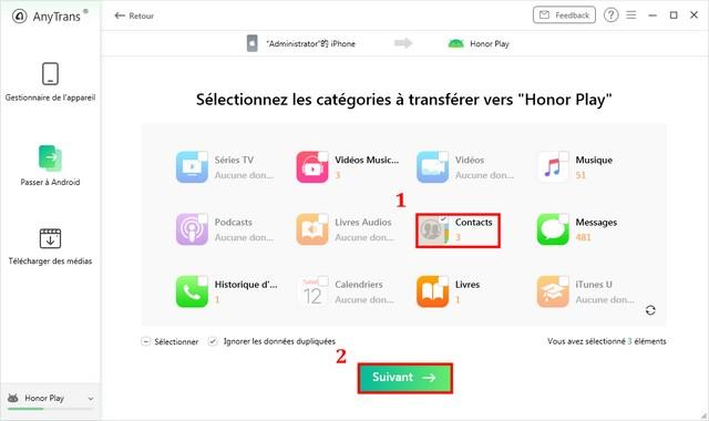 Transfiere los contactos del iOS a Android a través de AnyTrans