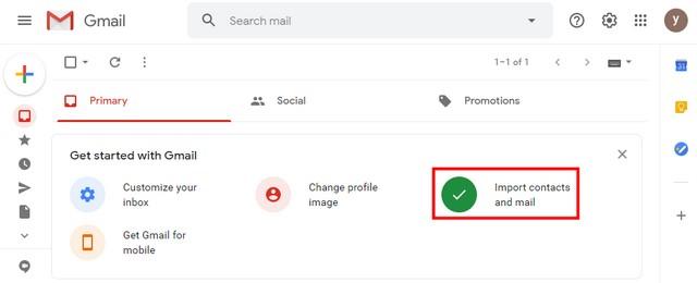 Transferir contactos a través de Gmail