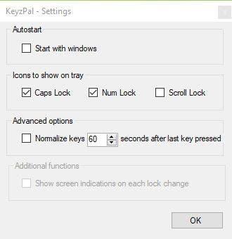 Configuración de KeyzPal