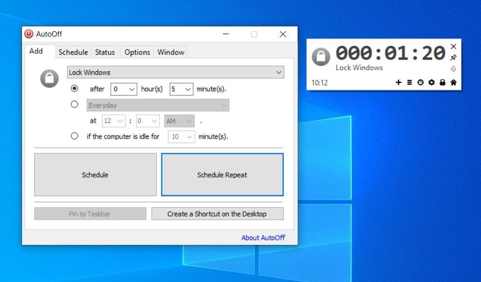 Shut down, restart your computer, or run any program automatically on a schedule with AutoOff