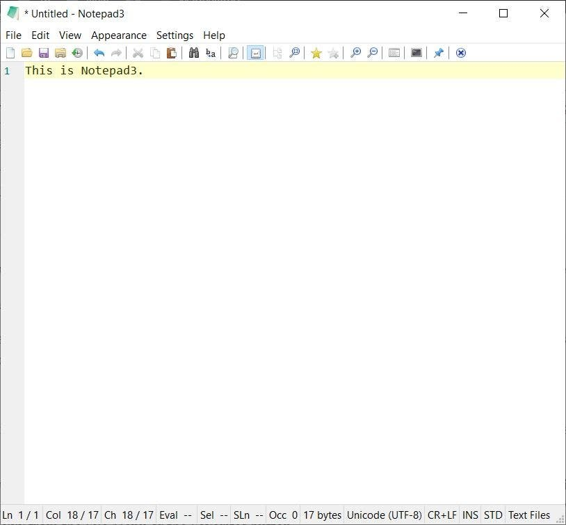 Notepad3 is an advanced text editor that supports many programming languages