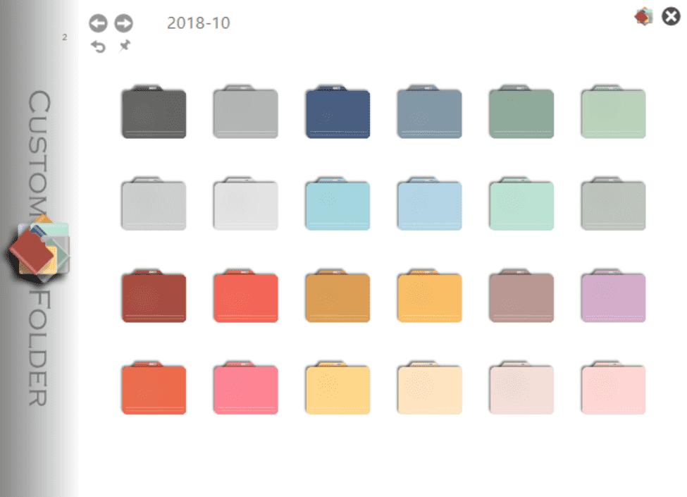 ventanas de iconos de carpetas personalizadas