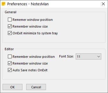 Configuración de NotesMan