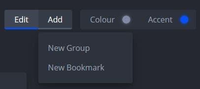 nightTab añade un nuevo marcador o grupo
