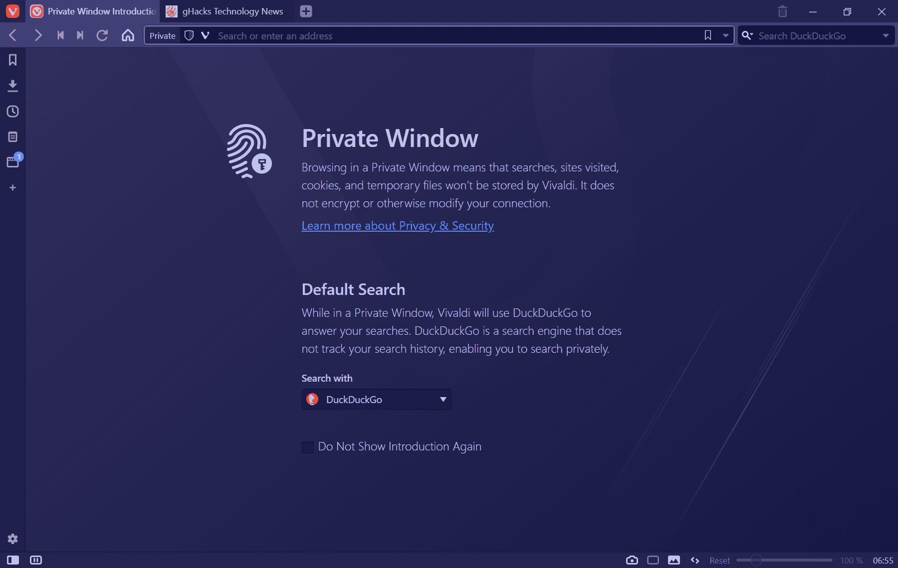 vivaldi-3.3-nuevo tema de ventana privada