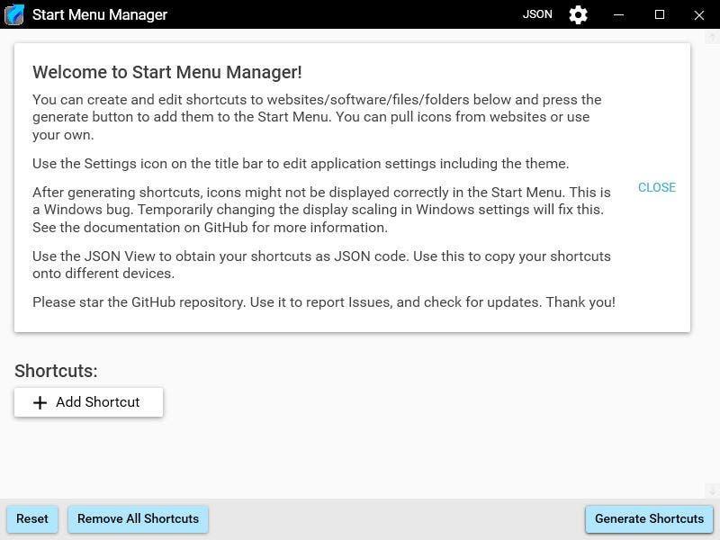 Crear atajos personalizados para el menú de inicio utilizando el Administrador del menú de inicio