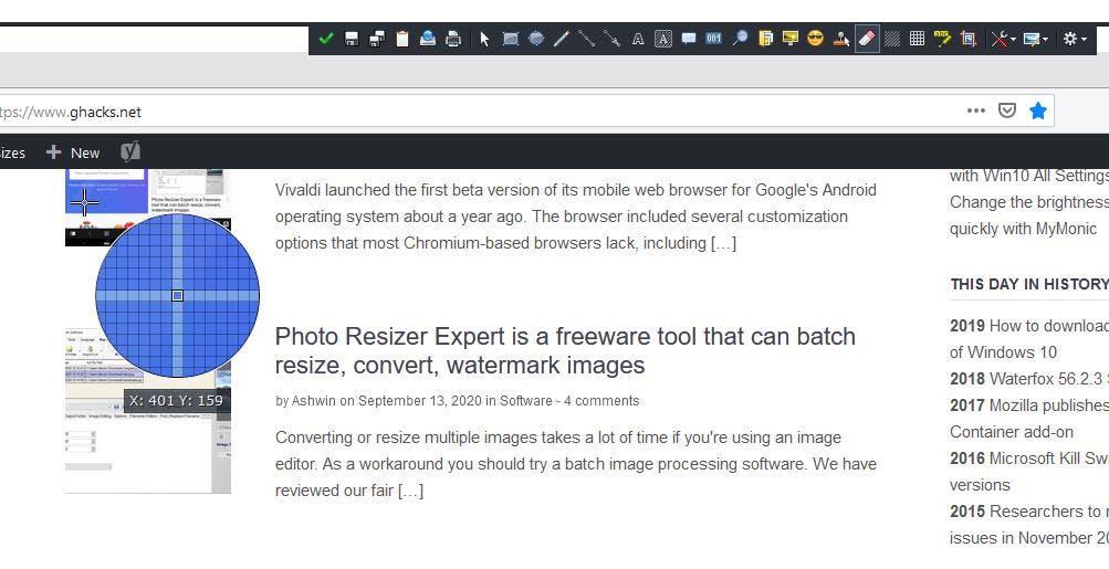 Ejemplo de borrador inteligente de ShareX 2