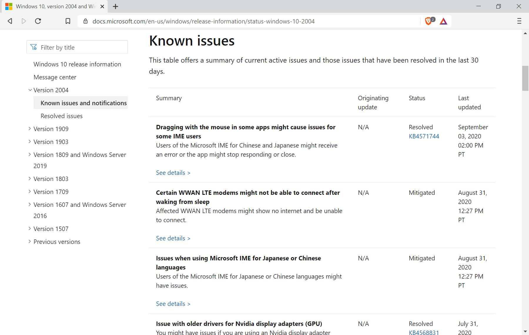problemas de los bloqueadores de actualizaciones de windows-10