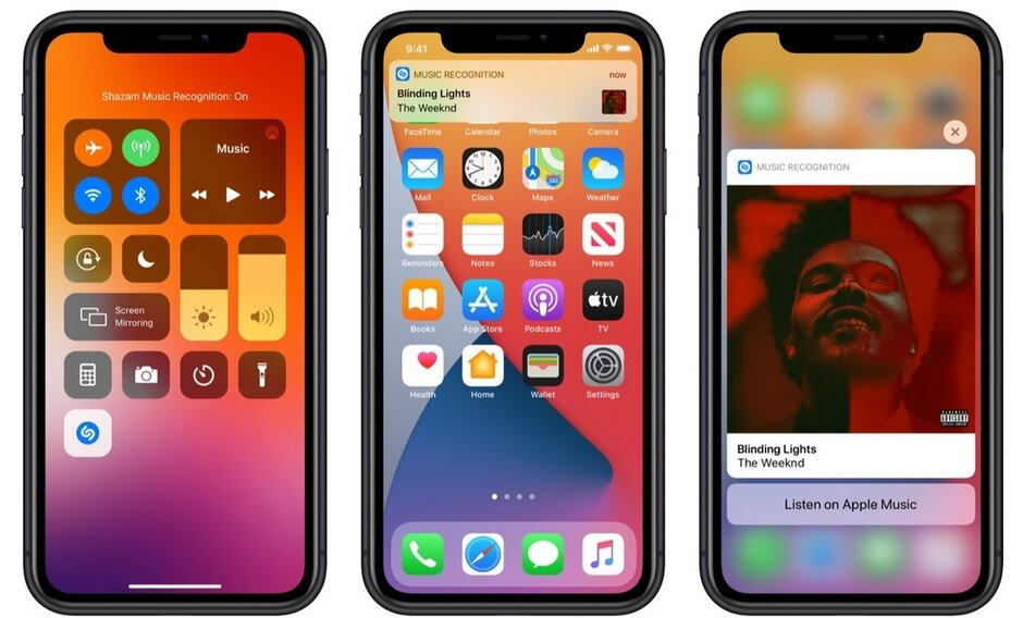 En la beta pública del iOS 14.2, puedes tener a Shazam en el Centro de Control. La imagen da crédito a MacRumors - ¡Shazam! Apple lanza una beta pública para iOS 14.2