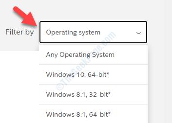 Filtro por sistema operativo basado en el tipo de sistema