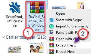 Extraer los archivos
